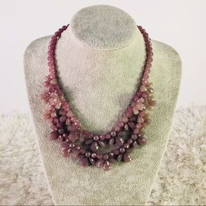 Statement Necklace Purple Molded